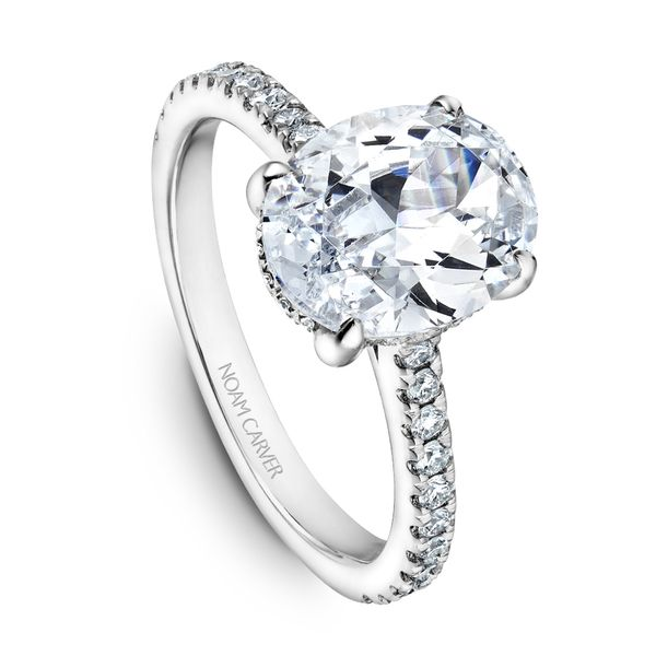 A Noam Carver Engagement Ring in 18K White Gold with 42 Round Diamonds Grogan Jewelers Florence, AL