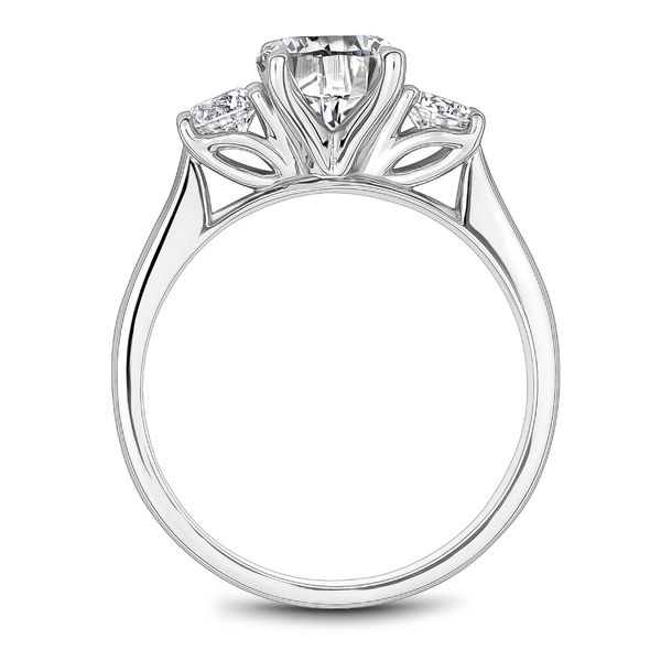 A Noam Carver Engagement Ring in 14K White Gold with 2 Round Diamonds Image 3 Grogan Jewelers Florence, AL