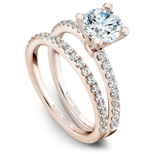 A Noam Carver Engagement Ring in 14K White Gold with 28 Round Diamonds Image 3 Grogan Jewelers Florence, AL