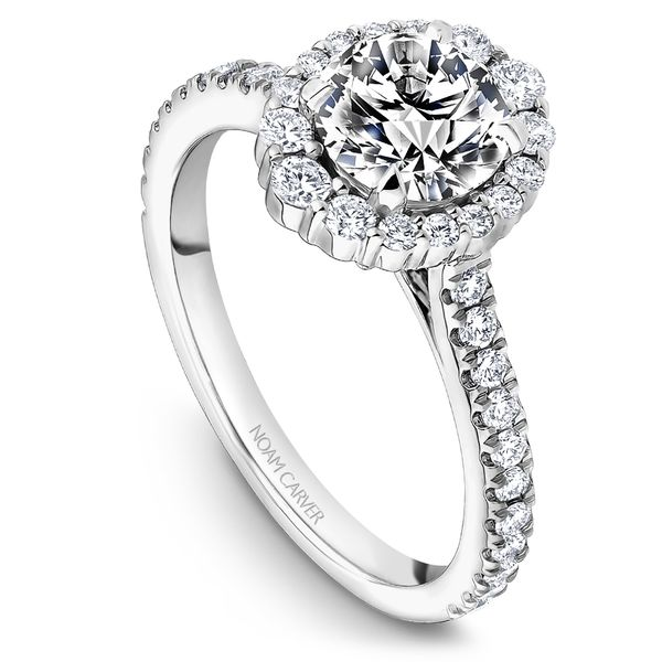 A Noam Carver Engagement Ring in 18K White Gold with 40 Round Diamonds Grogan Jewelers Florence, AL