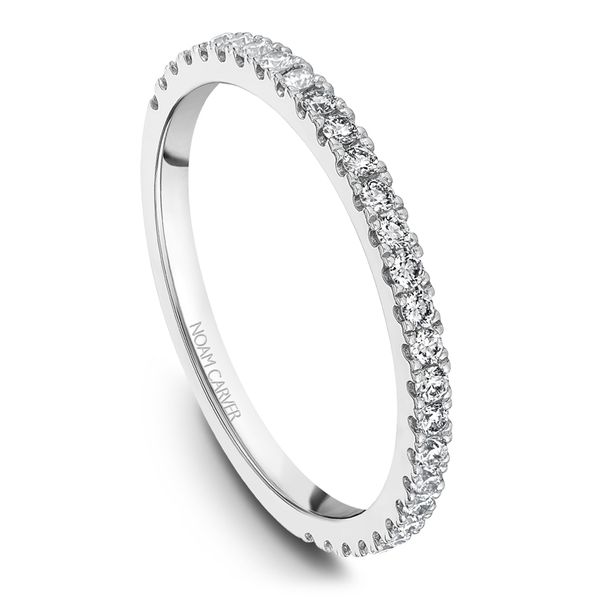 A Noam Carver Engagement Ring in 18K White Gold with 40 Round Diamonds Image 5 Grogan Jewelers Florence, AL
