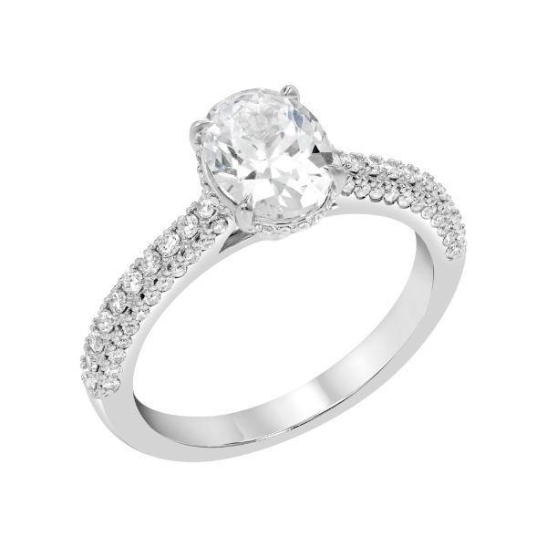 Oval Center Diamond Encrusted Band** Image 2 Grogan Jewelers Florence, AL