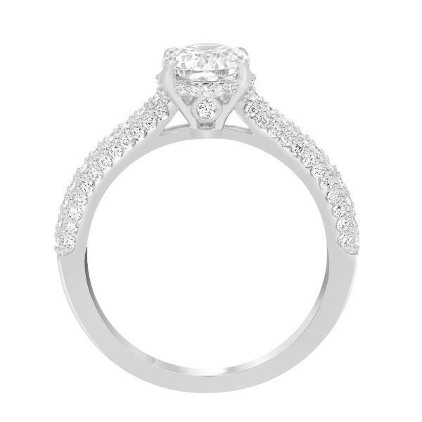 Oval Center Diamond Encrusted Band** Image 3 Grogan Jewelers Florence, AL
