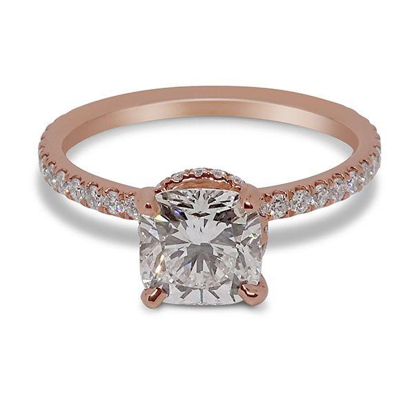 Round Cut Hidden Halo Engagement Ring Image 3 Grogan Jewelers Florence, AL