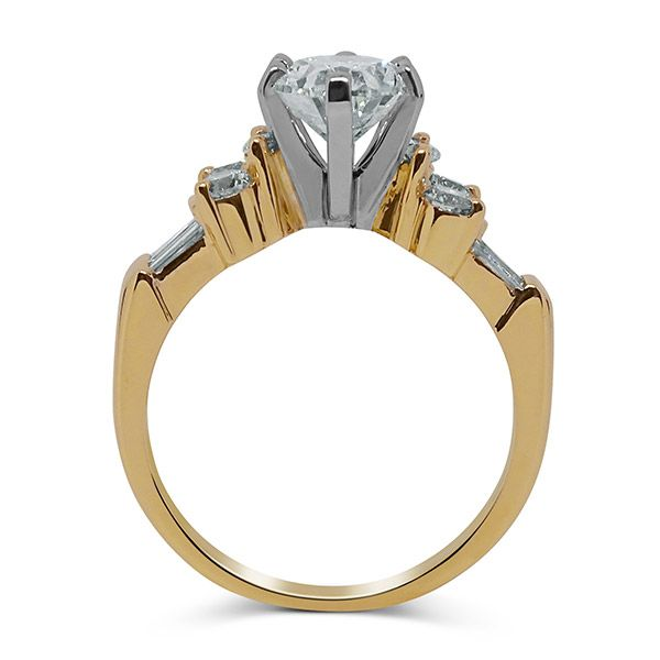 Oval Cut with Round and Baguettes Engagement Ring Image 2 Grogan Jewelers Florence, AL
