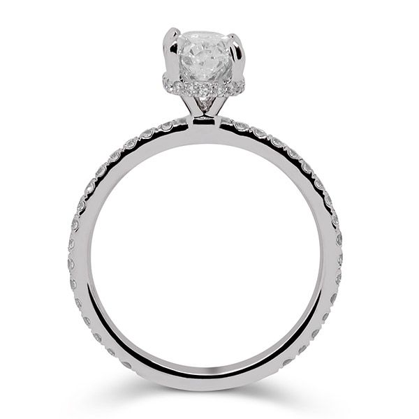 Hidden Halo Oval Cut Engagement Ring Image 2 Grogan Jewelers Florence, AL