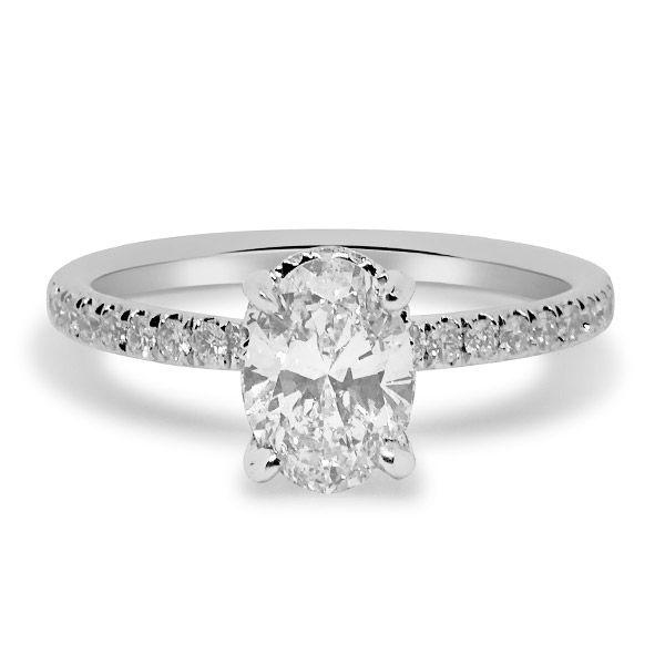 Hidden Halo Oval Cut Engagement Ring Image 3 Grogan Jewelers Florence, AL