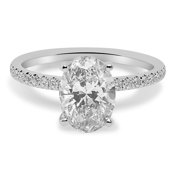 Oval Cut Center with Hidden Halo Engagement Ring Image 3 Grogan Jewelers Florence, AL