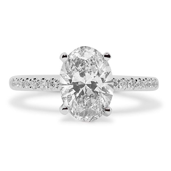Oval Cut Center with Hidden Halo Engagement Ring Image 4 Grogan Jewelers Florence, AL