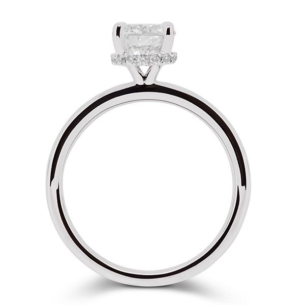 Round Brilliant with Hidden Halo Engagement ring Image 2 Grogan Jewelers Florence, AL