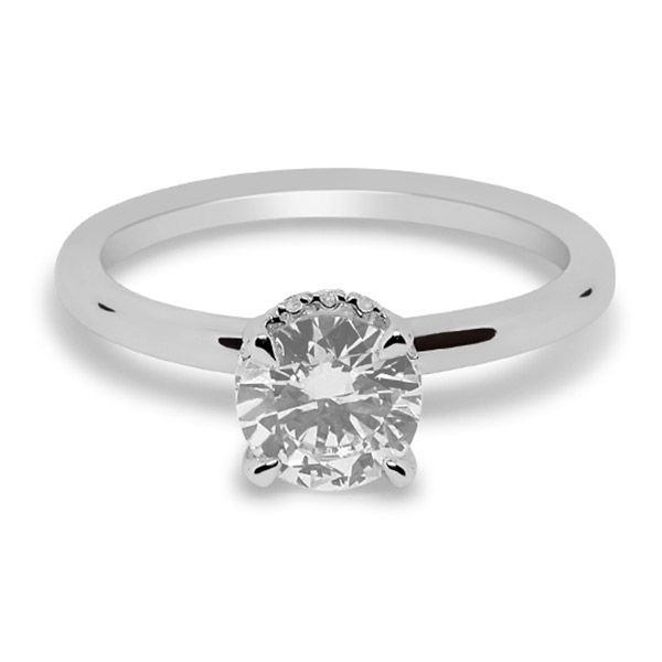 Round Brilliant with Hidden Halo Engagement ring Image 3 Grogan Jewelers Florence, AL
