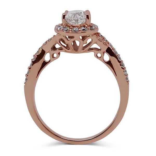 Oval Center Halo Twisted Shank Wedding Set Image 2 Grogan Jewelers Florence, AL