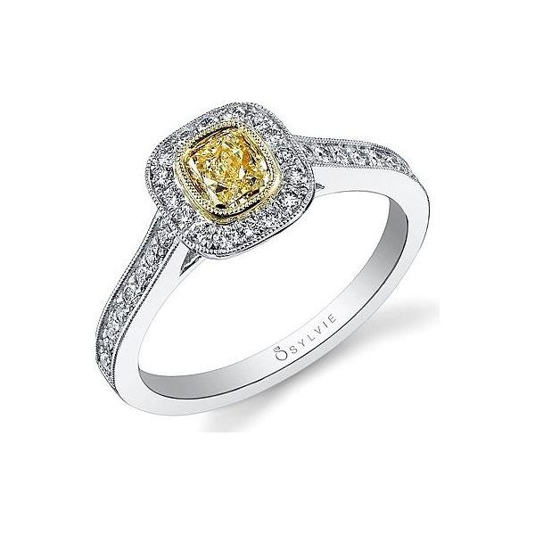 Yellow Diamond Engagement Ring Holtan's Jewelry Winona, MN