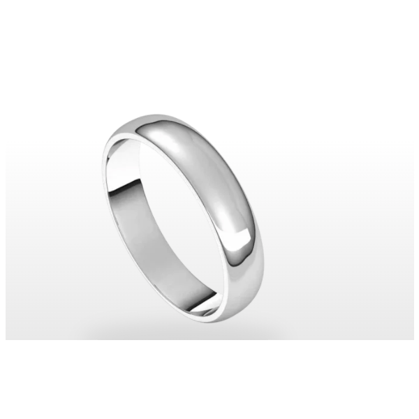 White Gold Polished Wedding Band Holtan's Jewelry Winona, MN
