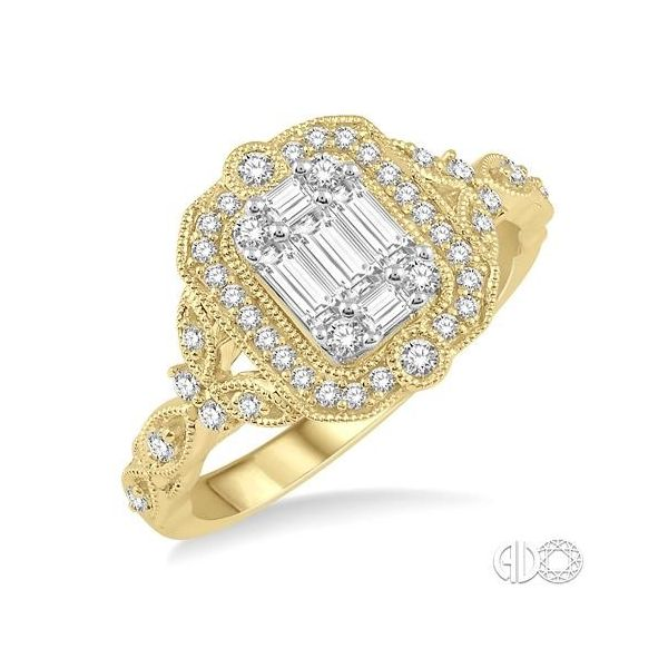 14K YELLOW GOLD BAGUETTE AND ROUND DIAMOND RING Jackson Jewelers Flowood, MS