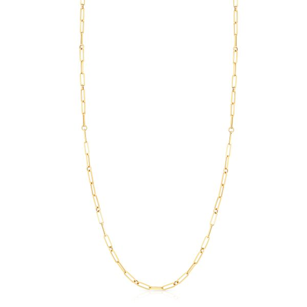 """Designer Gold Chain Link 31"""" Necklace in 18kt Yellow Gold Jacqueline's Fine Jewelry Morgantown, WV"""