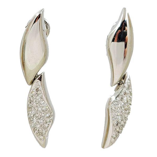 White-Gold-Diamond-Drop-Earrings