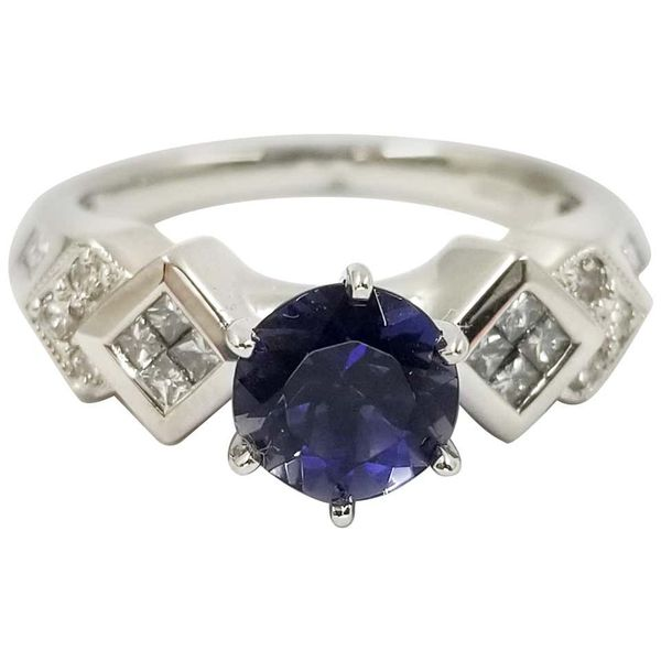 Iolite and Diamond Ring Jae's Jewelers Coral Gables, FL