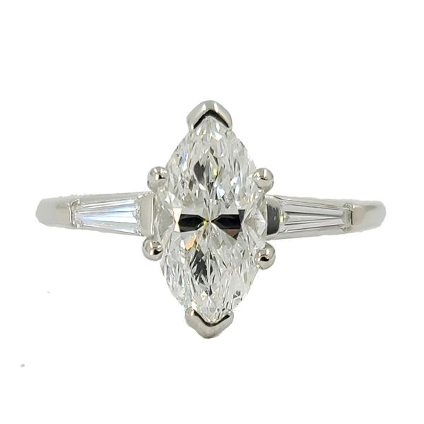 Marquise-and-baguette-diamond-engagement-ring