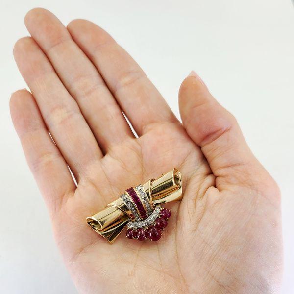 Ruby-and-diamond-estate-pin