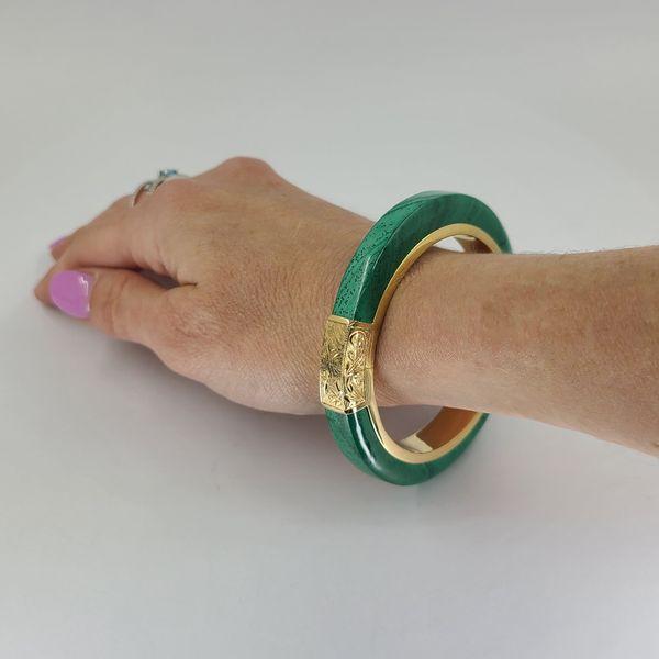 imitation-malachite-bangle-bracelet