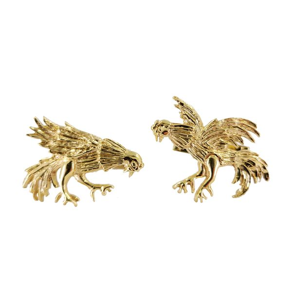 Rooster-Cock-Fight-Cufflinks