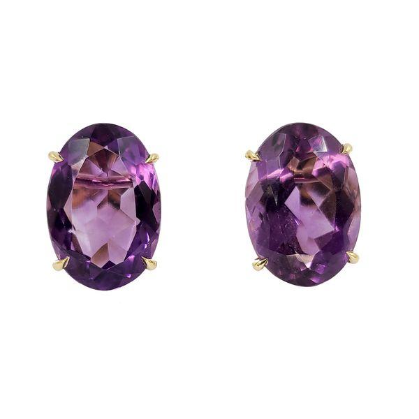Amethyst-oval-stud-earrings