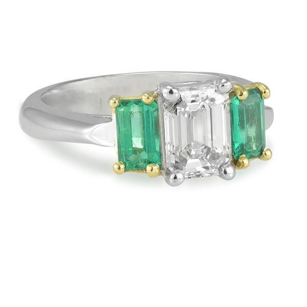 1.03-Carat-Diamond-and-emerald-ring