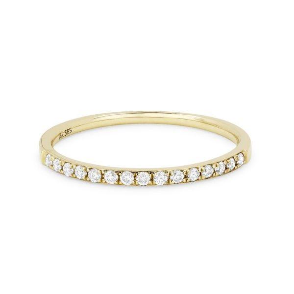 Diamond-yellow-gold-band