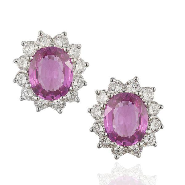 Pink-sapphire-earrings