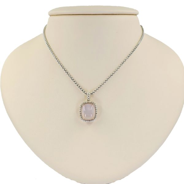 David-yurman-Rose-Quartz-and-mother-of-pearl-and-diamond-necklace