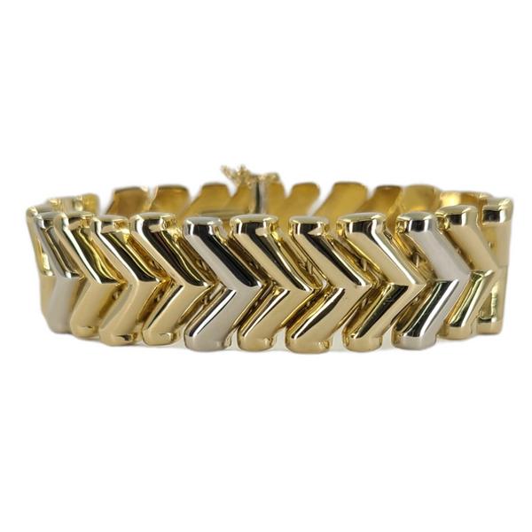 chevron-link-two-tone-bracelet