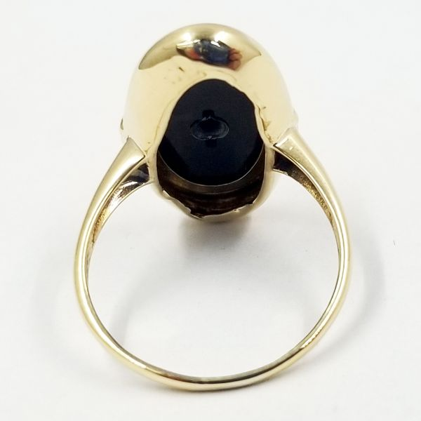 Onyx and Diamond Ring Image 2 Jae's Jewelers Coral Gables, FL