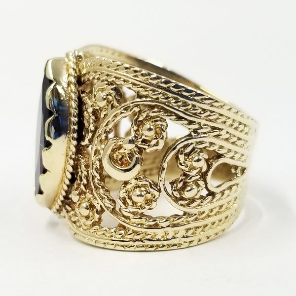 Marquise Cut Garnet Cigar Band Image 2 Jae's Jewelers Coral Gables, FL