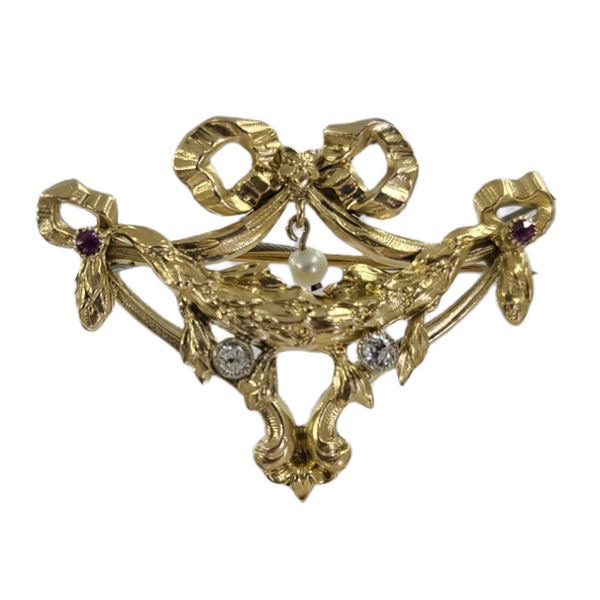 antique-pin-with-diamond-pearl-and-rubies