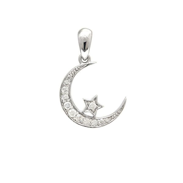 71880DW-Diamond-Moon-Star-Pendant