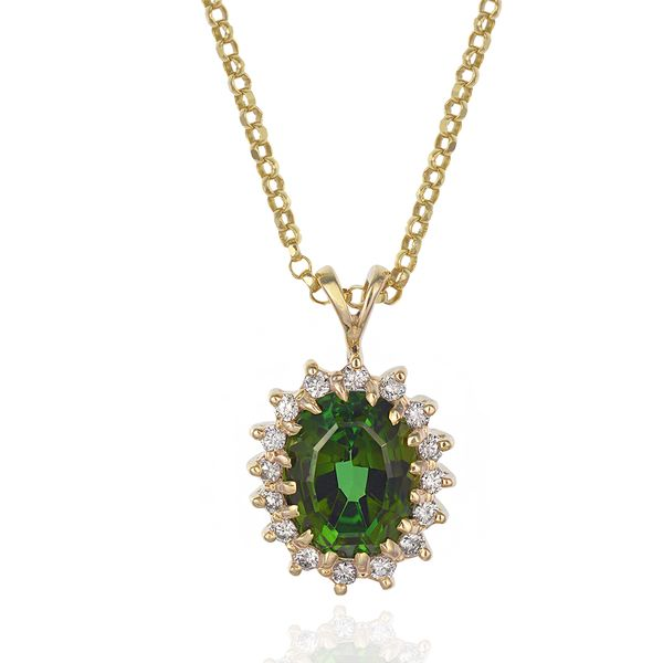 Green-tourmaline-diamond-pendant