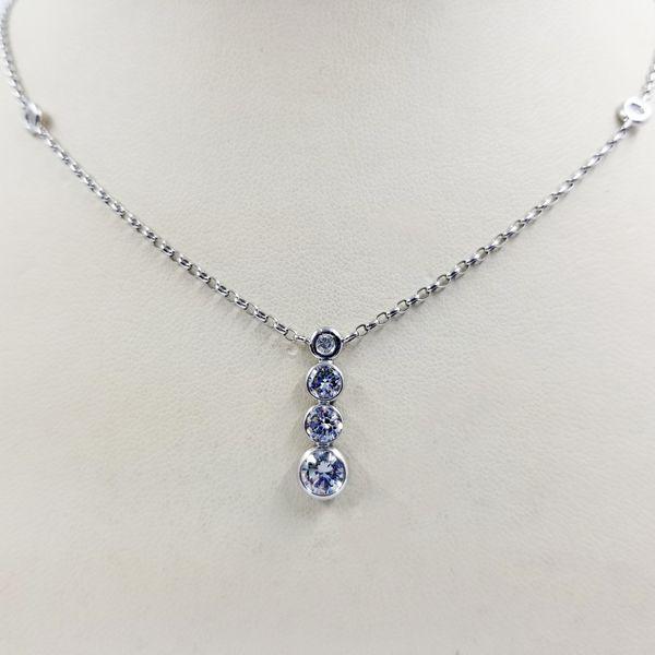 Platinum Diamond Drop Necklace Jae's Jewelers Coral Gables, FL