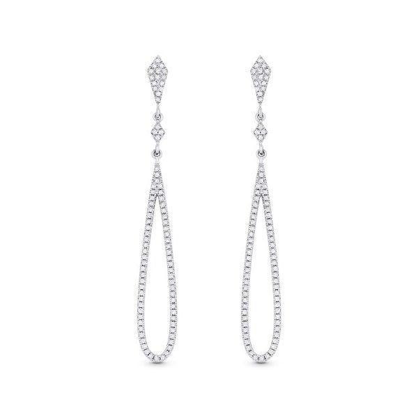 Open Work Diamond Drop Earrings  Jae's Jewelers Coral Gables, FL