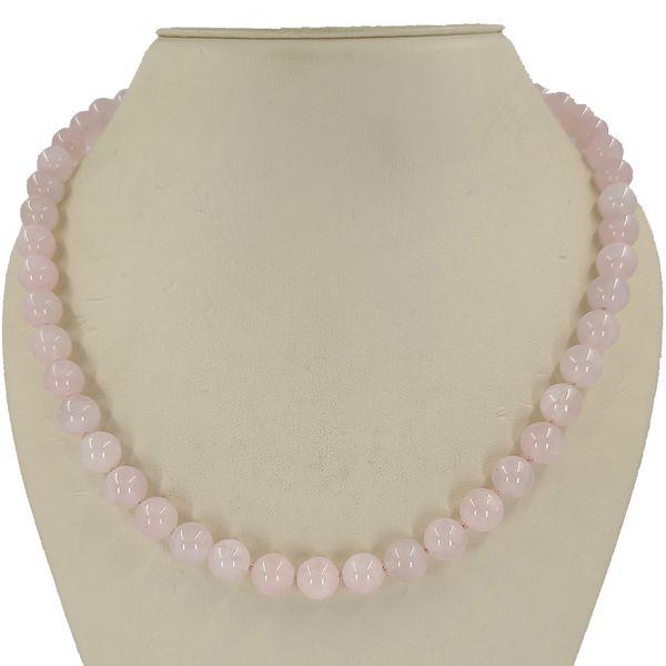 Rose-quartz-bead-necklace