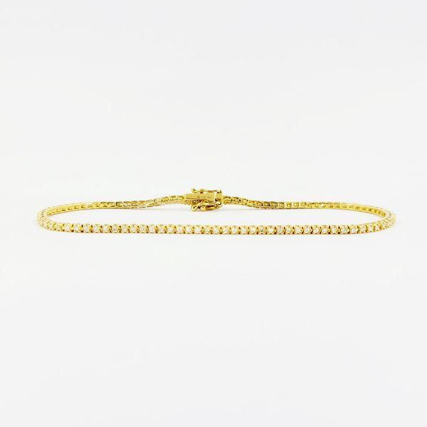 Diamond-line-bracelet