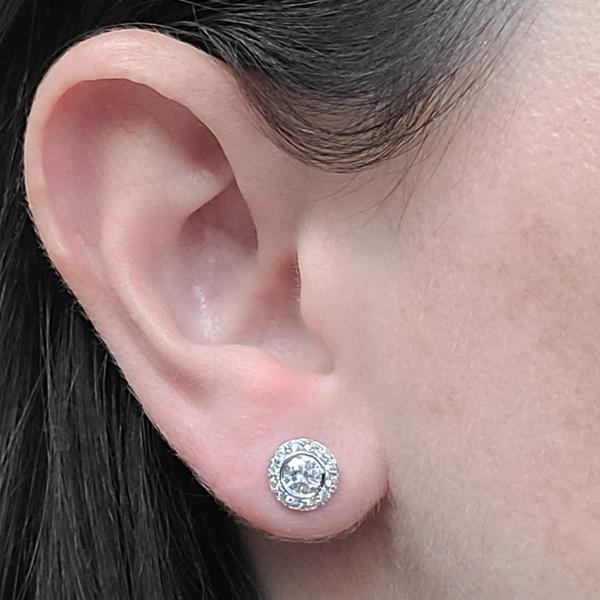 Diamond-with-diamond-halo-stud-earrings