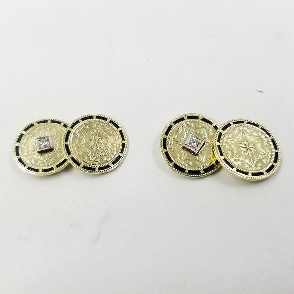 Diamond and Enamel Cufflinks  Jae's Jewelers Coral Gables, FL