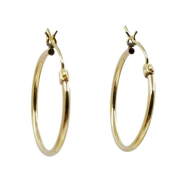 Narrow Tube Hoop Earrings Jae's Jewelers Coral Gables, FL