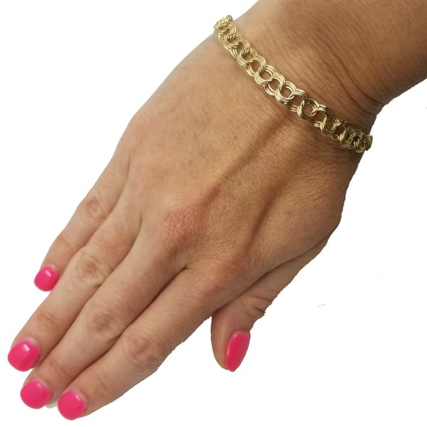 14-Karat-Yellow-Gold-Triple-Link-Bracelet