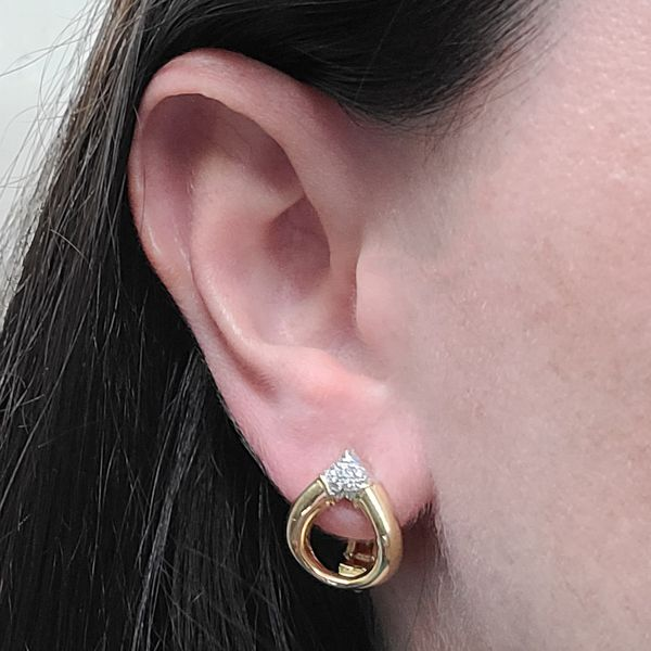 Diamond-and-yellow-gold-convertible-earrings