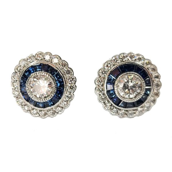 Sapphire-and-Diamond-Earrings