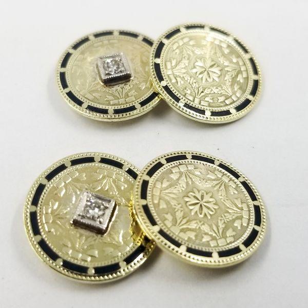 Diamond and Enamel Cufflinks  Image 4 Jae's Jewelers Coral Gables, FL