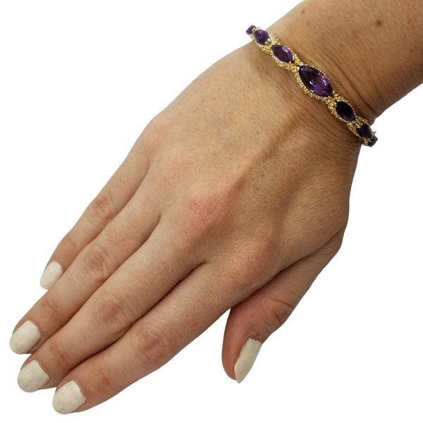 Vintage Marquis Amethyst Bracelet Image 4 Jae's Jewelers Coral Gables, FL
