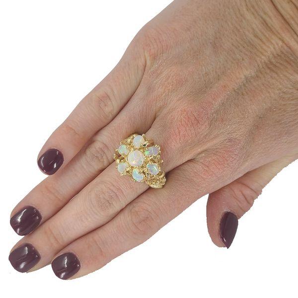 Estate-opal-cluster-ring
